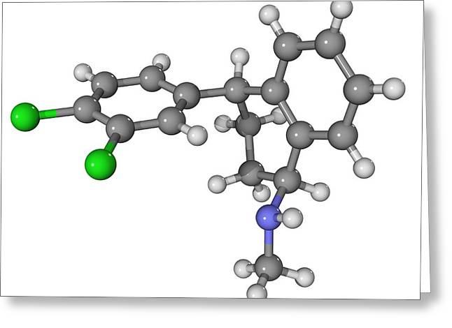 Zoloft Antidepressant Drug Molecule Greeting Card by Laguna Design