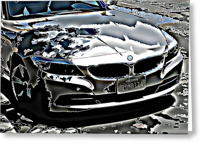 Samuel Sheats Greeting Cards - Zombie BMW Z4 Greeting Card by Samuel Sheats