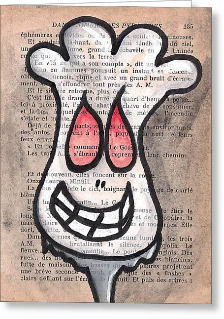 Macbre Greeting Cards - Zombie Cauliflower Greeting Card by Jera Sky