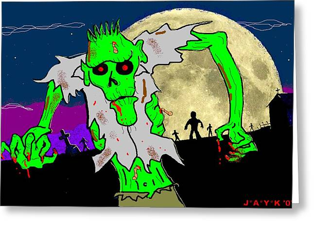 Living Dead Greeting Cards - Zombies Greeting Card by Jason Kasper