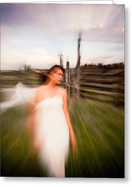 Double Image Greeting Cards - Zoom Walk Greeting Card by Scott Sawyer