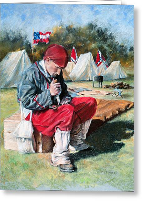 Civil Pastels Greeting Cards - Zouave Greeting Card by Diane Breuer