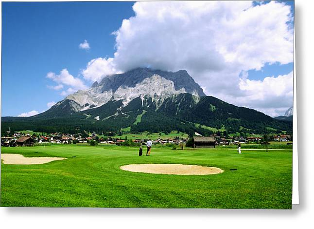 """high Peaks"" Greeting Cards - Zugspitze Arena Greeting Card by Kevin Smith"
