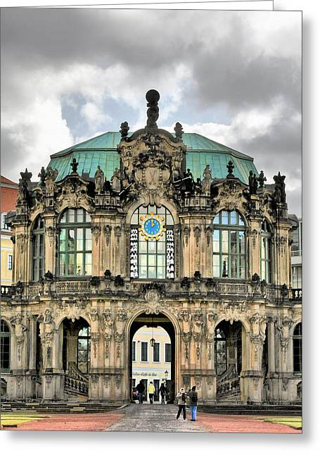 Ceramic Greeting Cards - Zwinger Dresden - Carillon Pavilion - Caution fragile Greeting Card by Christine Till