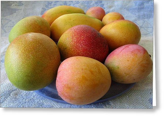 Mango Greeting Cards -          Have A Mango Greeting Card by Trudy Brodkin Storace