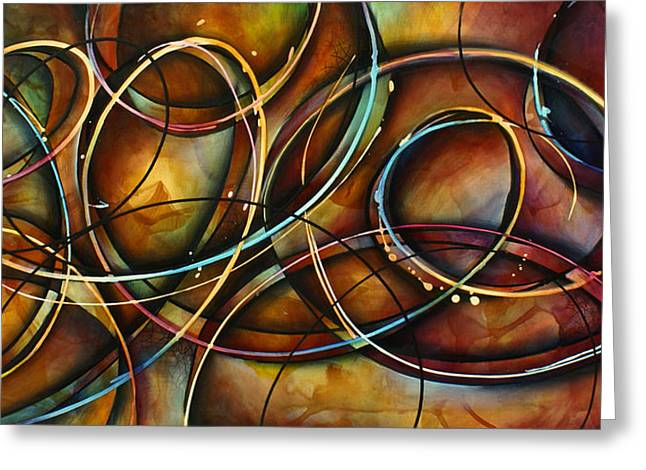 Abstract Movement Greeting Cards -   Dizzy  Greeting Card by Michael Lang