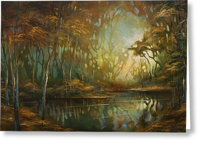 Stream Greeting Cards -   Eden  Greeting Card by Michael Lang