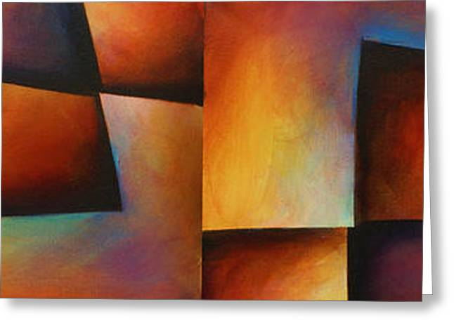 Geometric Shape Greeting Cards -   Edges  Greeting Card by Michael Lang