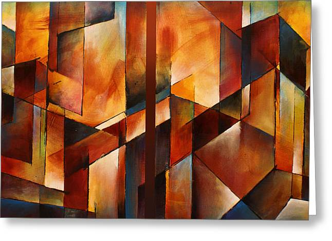 Transitional Greeting Cards -   Four Dimensional  Greeting Card by Michael Lang