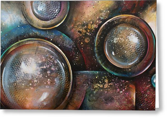 Geometric Shape Greeting Cards -   Inevitable Greeting Card by Michael Lang