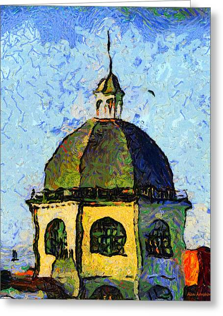 Van Gogh Style Greeting Cards - # 110 Tribute To Vincent The Dome Cinema Worthing UK Greeting Card by Alan Armstrong
