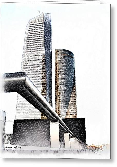 Madrid Greeting Cards - # 15 Cuatro Torres Madrid Greeting Card by Alan Armstrong