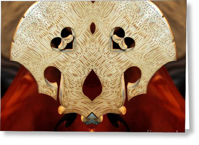 Double Bass Greeting Cards -  A Bass of Flowers  Greeting Card by Steven  Digman