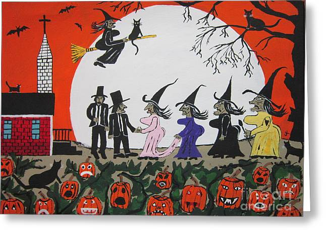 Black Top Greeting Cards -  A Halloween Wedding Greeting Card by Jeffrey Koss