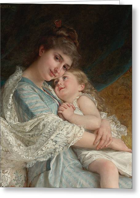 A Tender Embrace Greeting Card by Emile Munier