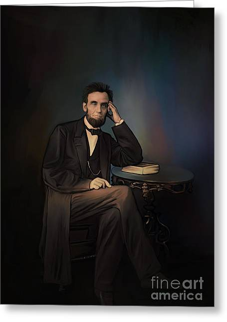 Best Sellers -  - Congressman Greeting Cards -  Abraham Lincoln Greeting Card by Andrzej Szczerski