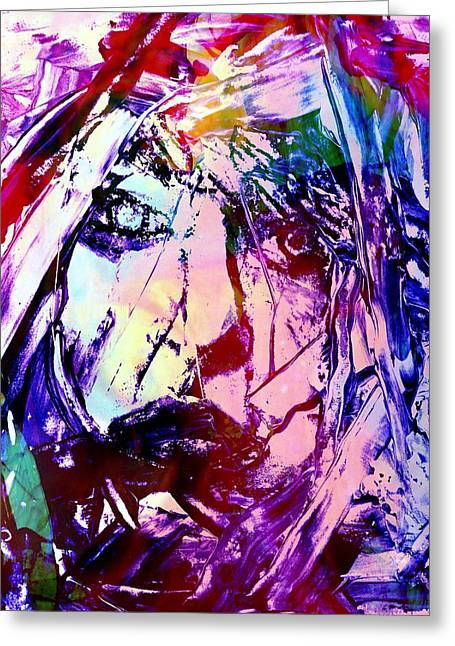 Sit-ins Greeting Cards -  Abstract Mixed Media Portrait Greeting Card by Rich  Ray Art