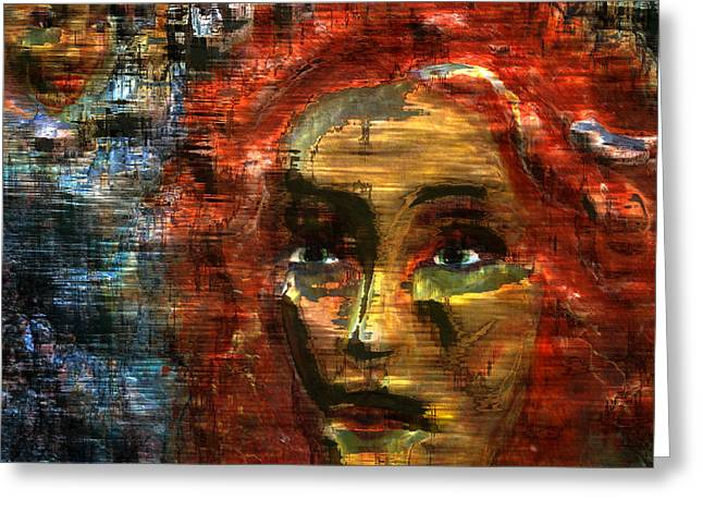 Intuitive Greeting Cards -  Abstract Woman Greeting Card by Patricia Motley