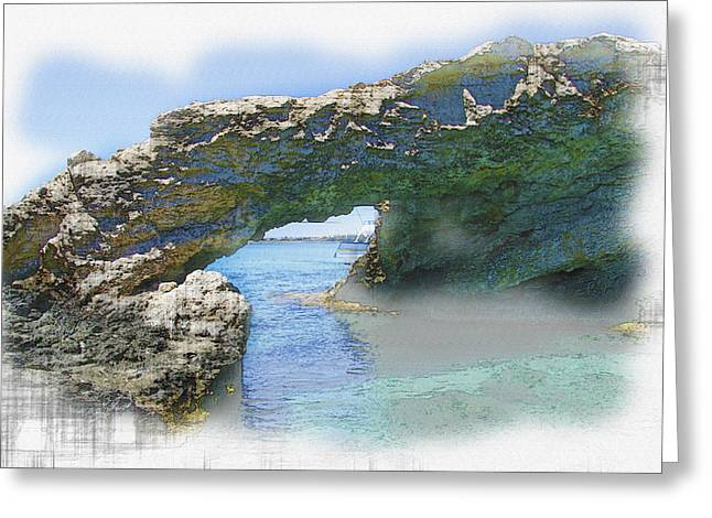 Agia Napa Greeting Cards -  Agia Napa arch Greeting Card by Don Kuing
