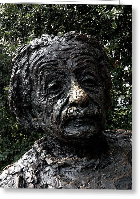 Statue Portrait Greeting Cards -  Albert Einstein Statue Greeting Card by LeeAnn McLaneGoetz McLaneGoetzStudioLLCcom