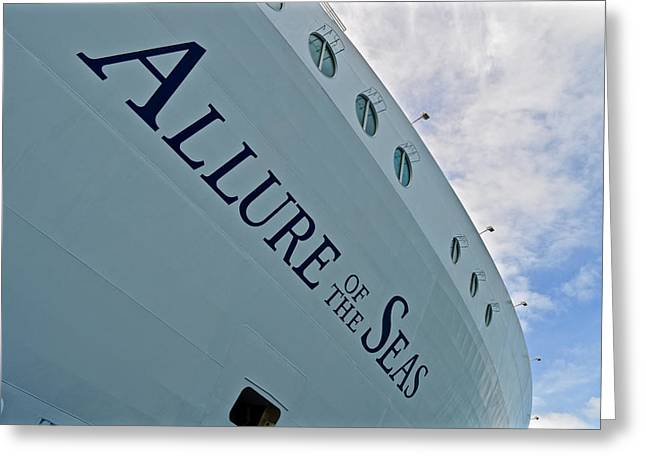 The Buffet Greeting Cards -  Allure of the seas - Hull Greeting Card by Colin Perkins