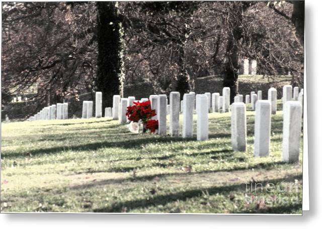 Bruster Greeting Cards -  Arlington Cemetary Greeting Card by Clayton Bruster