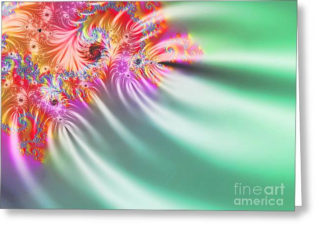 Fireworks Mixed Media Greeting Cards -  Aurora Color Dreams Greeting Card by Stefano Senise