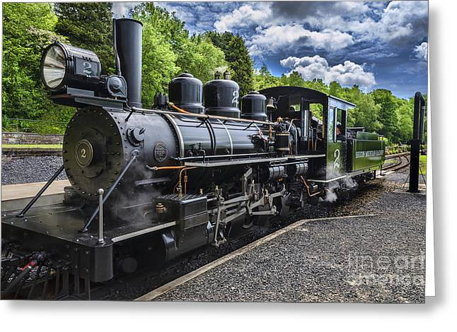 Pontsticill Greeting Cards -  Baldwin Locomotive Greeting Card by Ian Lewis