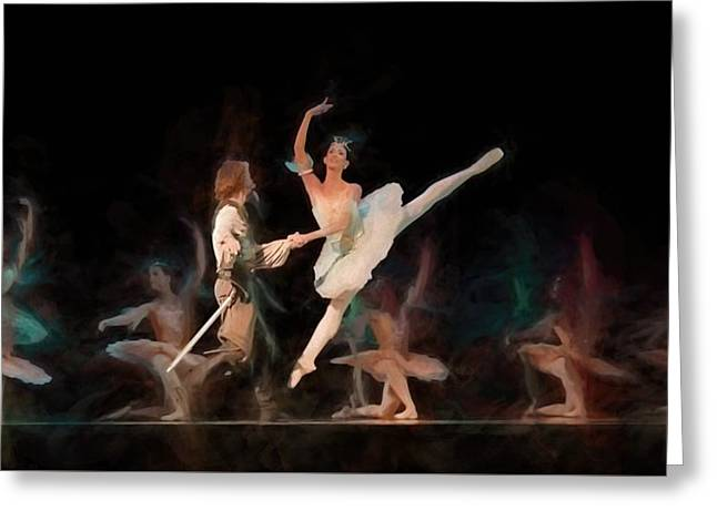 Ballerina  Greeting Card by Louis Ferreira