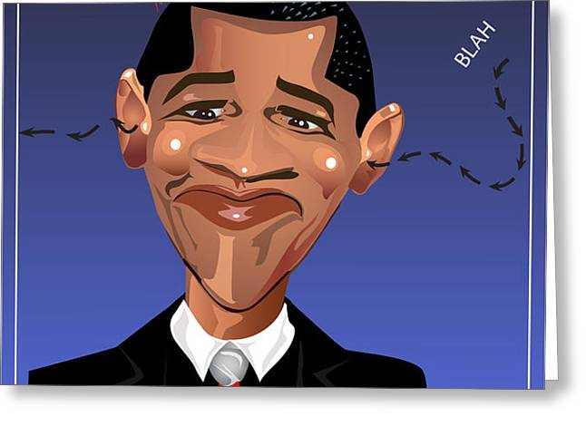 Barack Obama The President of the United States of America Greeting Card by Remy Francis