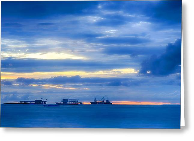 China Beach Greeting Cards -  Beyond breakers Greeting Card by Damian Morphou
