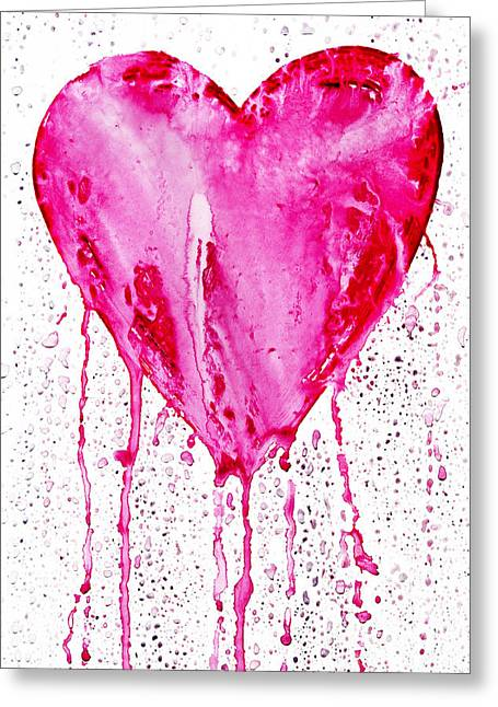 Lamentation Greeting Cards -  Bleeding Heart Greeting Card by Michal Boubin