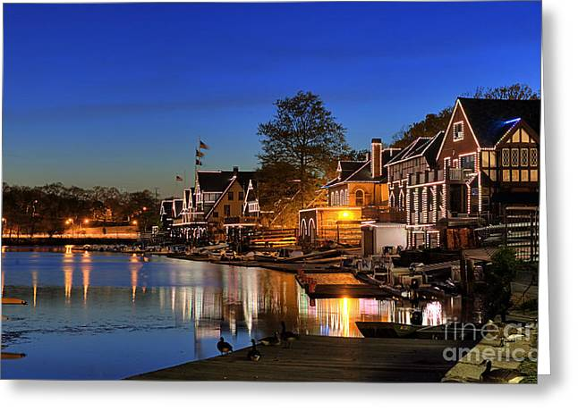Boathouse Row Greeting Cards -  Boathouse Row  Greeting Card by John Greim