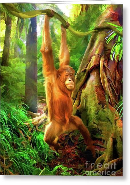 Borneo Baby Greeting Card by Trudi Simmonds