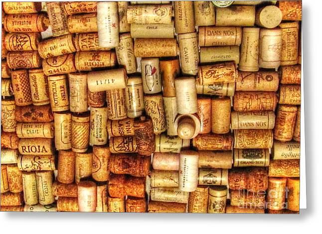 Bottlecaps Greeting Card by Yury Bashkin