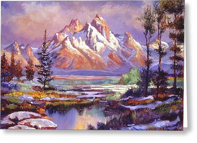 Breaking Winter Sunlight Greeting Card by David Lloyd Glover