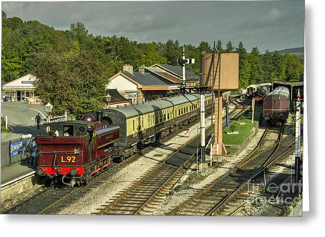 Pannier Greeting Cards -  Buckfastleigh Station  Greeting Card by Rob Hawkins