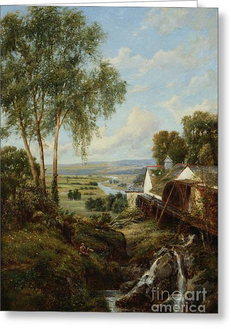 Bucolic Scenes Paintings Greeting Cards -  Bucolic Scene Greeting Card by MotionAge Designs