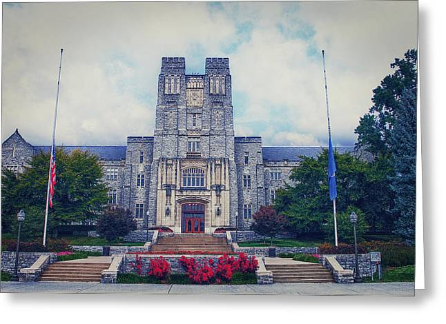 Kathy Jennings Photographs Greeting Cards -  Burruss Hall Greeting Card by Kathy Jennings