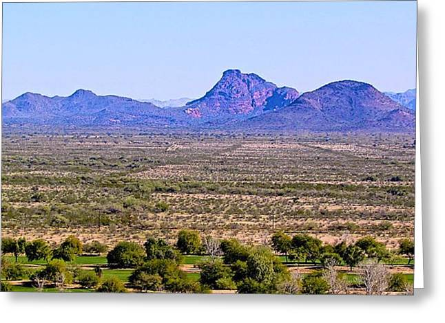 Camelback Mountain Greeting Cards -  Camelback Mountain Greeting Card by Barbara Zahno