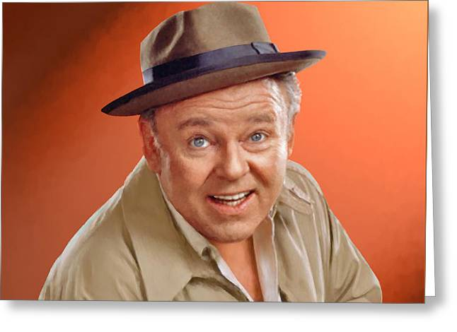 Carroll O'connor As Archie Bunker Greeting Card by Stephen Shub