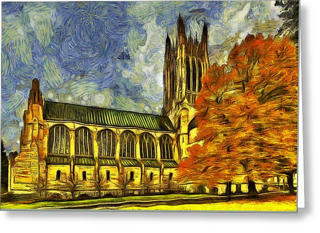 Spokane Greeting Cards -  Cathedral of St. John the Evangelist Greeting Card by Mark Kiver