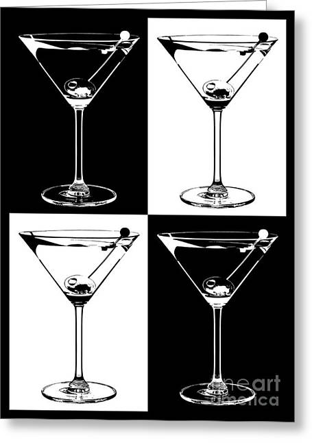 Martini Greeting Cards -  Classic Martini  Greeting Card by Jon Neidert