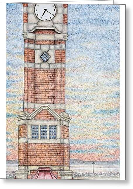 Clock Tower  Morecambe  Lancashire Greeting Card by Sandra Moore