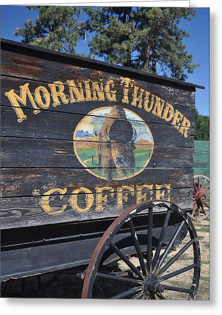 Coffee Wagon Greeting Card by Brent Easley