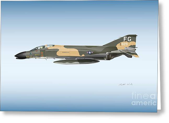 Col. Robin Olds F-4 Phantom Greeting Card by Matthew Webb