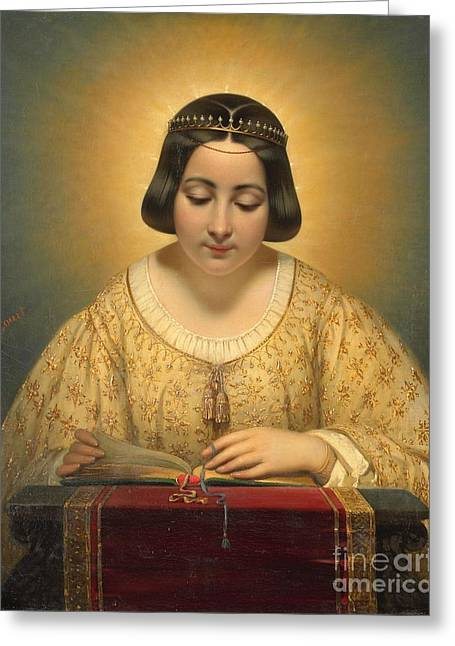 Court Countess De Pages Greeting Card by Josepg Desire