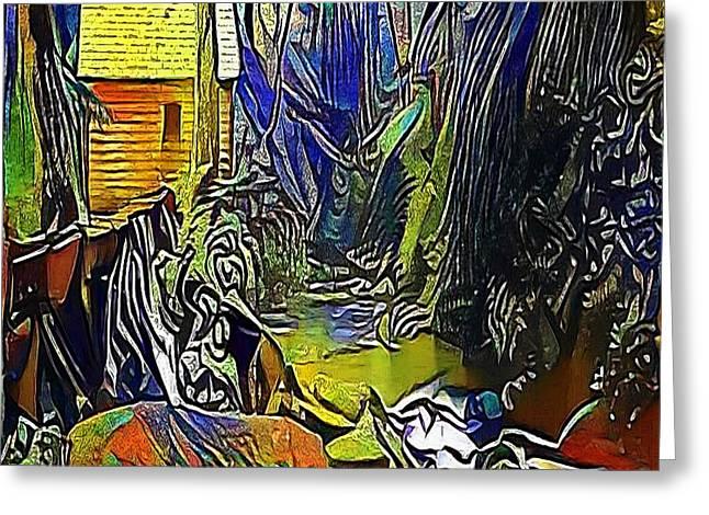 Creek In The Woods - My Www Vikinek-art.com Greeting Card by Viktor Lebeda