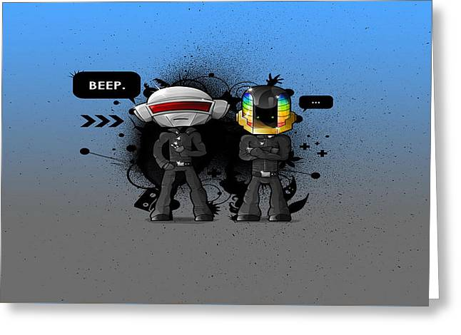 Daft Punk - 210 Greeting Card by Jovemini ART