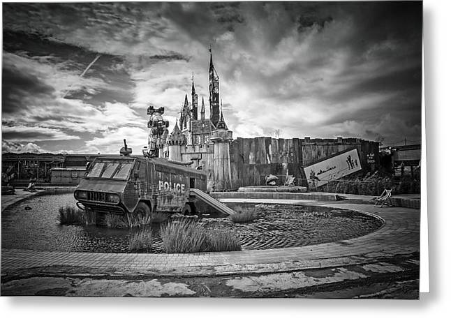 Installation Art Greeting Cards -  Dismaland Castle Greeting Card by Jason Green
